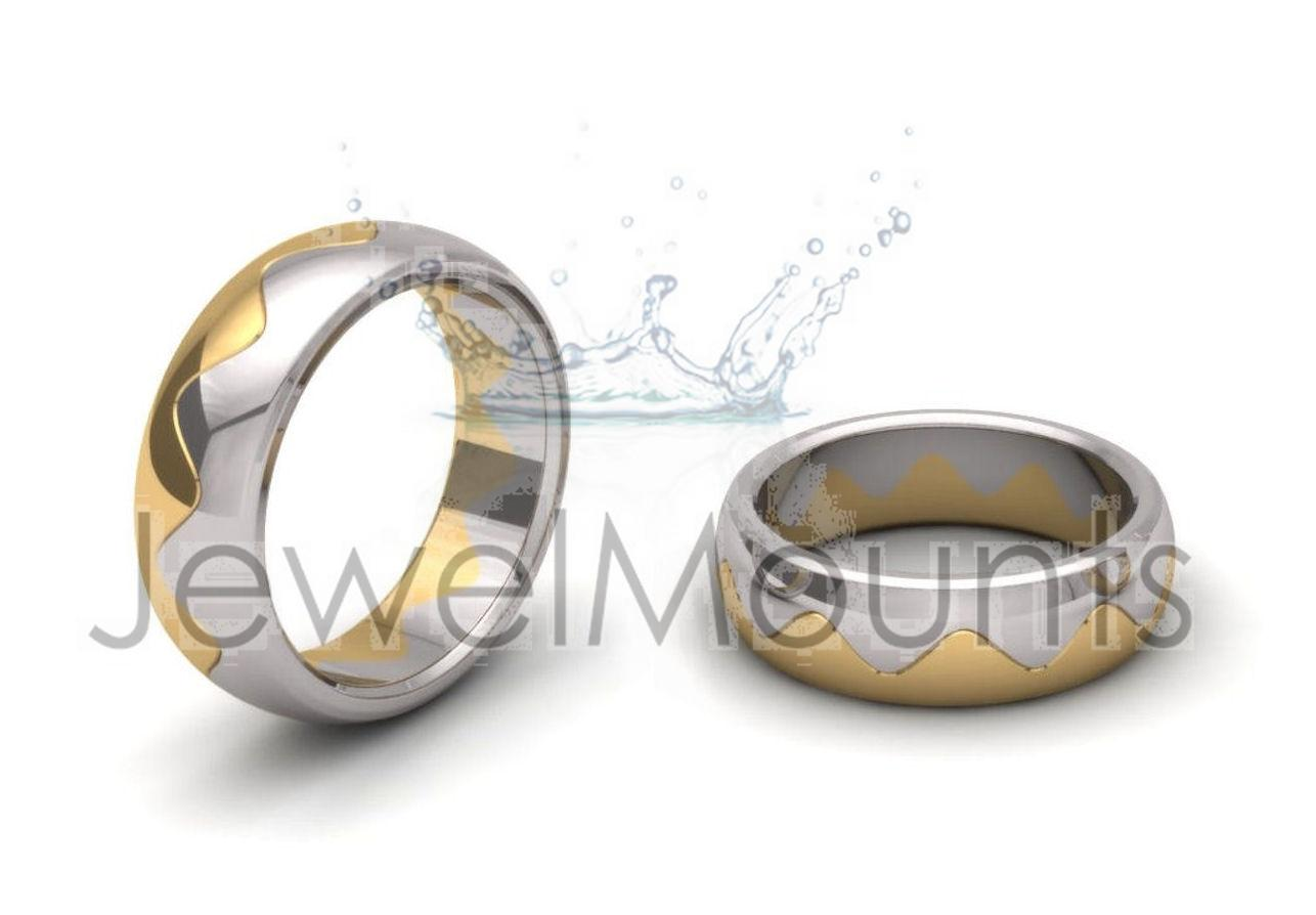 Interlocking Wedding Bands Rings Wedding Fancy Product Detail
