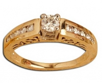 Ladies Ring - 1 x (0.45 TLB) Round - Click for more info