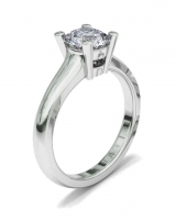 Half Round Shank | Double Bezel Four Claw Setting - Click for more info