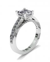 Pave Set Shoulder Shank   Princess Four Claw Setting - Click for more info