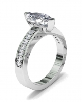 Pave Set Shoulder Shank   Marquise Shaped Setting - Click for more info