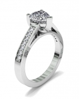 Pave Set Shoulder Shank | Heart Shaped Setting - Click for more info