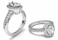 Pave Dress Ring | Four Claw Oval Setting