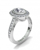 Oval Bezel And Pave Set Dress Ring - Click for more info