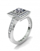 Bezel And Pave Set Dress Ring - Click for more info