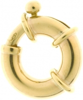 18YG Bolt Ring 14mm - Click for more info