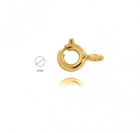 18YG Bolt Ring 5mm - Click for more info