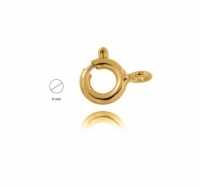 18YG Bolt Ring 6mm - Click for more info