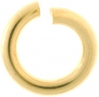 18YG Jump Ring Open 4mm - Click for more info