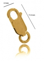 9YG Parrot Clasp 11mm - Click for more info