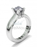 Half Round Shank | Four Claw Square Profile Setting - Click for more info