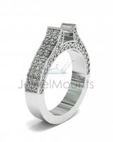 Double Row Micro Pave Set Upswept Shank - Click for more info