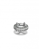 Four Claw Oval And Pave Setting - Click for more info