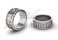 2013 MMXIII Roman Numeral Wedding Band - Click for more info