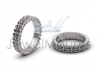 Baroque Style Wedding Band - Click for more info