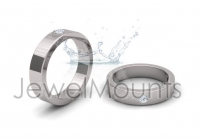 Single Stone Wedding Band - Click for more info