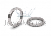 Princess Single Stone Wedding Band - Click for more info