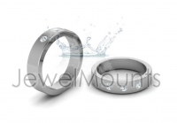 Round Trilogy Wedding Band - Click for more info