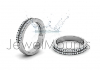 Double Row Scallop Set Wedding Band - Click for more info