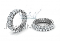 Double Row Claw Set Round Wedding Band - Click for more info