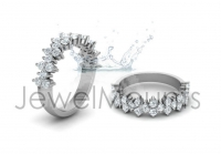 Claw Set Round Wedding Band - Click for more info