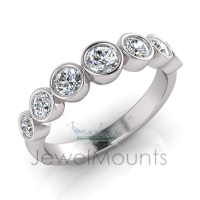 Rub-Over Graduating Round Ring - Click for more info