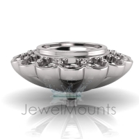 Bezel & Pave Set Flower Halo - Click for more info