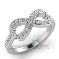 Pave Infinity Ring - Click for more info