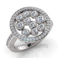 Bezel Multi-Stone Dress Ring - Click for more info