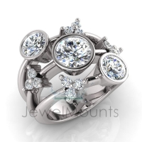 Bezel Split Band Dress Ring - Click for more info