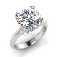 Four Square Claw Set Brilliant Cut Ring - Click for more info