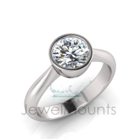 Round Bezel Set Setting Half Round Shank - Click for more info