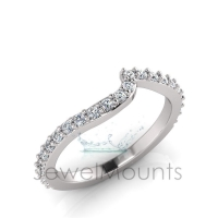 Claw Set Wedding Ring To Match J0549 - Click for more info