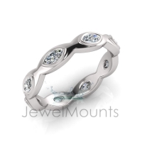 Marquise Bezel Stackable Band - Click for more info
