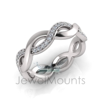 Infinity Ring With Pave Set Stones - Click for more info