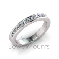 Channel Set Wedding Ring Matching Wedding Ring for J0213 - Click for more info