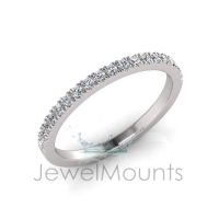 Scallop Set Wedding Ring Matching Wedder For J0234 - Click for more info