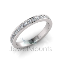 Pave Set Wedding Ring Matching Wedding Ring For J0255 - Click for more info