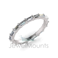Baguette Claw Set Eternity Ring - Click for more info