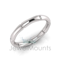 Bamboo Shape Eternity Ring - Click for more info