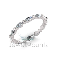 Claw Set Marquise Eternity Ring - Click for more info