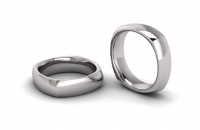 Half Round Square Mens Ring - Click for more info
