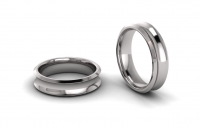 Concaved Beveled Edge Mens Ring - Click for more info