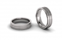 Flat Doulbe Line Engraved Mens Ring - Click for more info