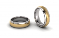 Half Round Sleeve Mens Ring - Click for more info