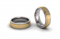 Flat Sleeve Mens Ring - Click for more info