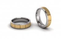 Flat Mens Sleeve Single Row Brick Ring - Click for more info