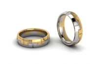 Half Round Key Mens Ring - Click for more info