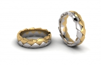Half Round Double Row Pangolin Mens Ring - Click for more info