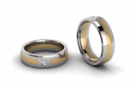 Half Round Single Stone Insert Mens Ring - Click for more info